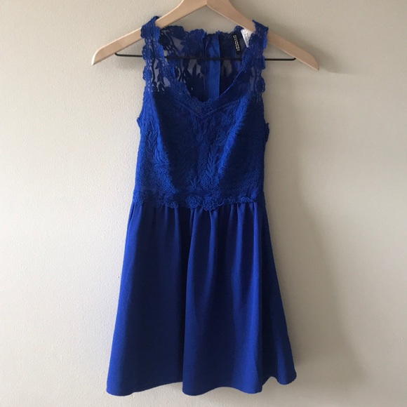 Divided Dresses & Skirts - Royal Blue Lace Dress